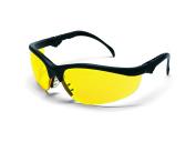 MCR Crews KD314 Klondike Plus Safety Glasses Black Frame Amber Lens 1 Pair