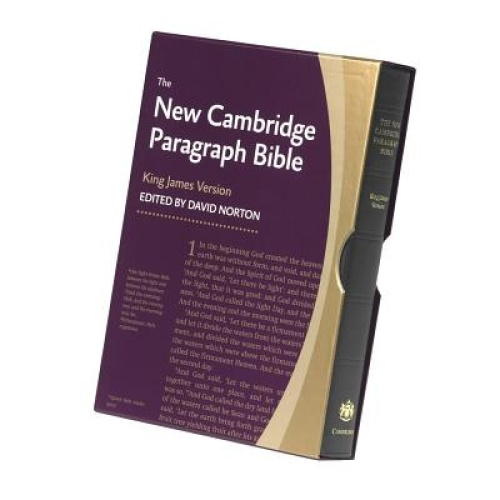 New Cambridge Paragraph Bible KJ595:T Black Calfskin: Personal Size by David Nor